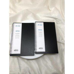 Blue Sky Notebook Set 5.5 in x 8.5 in Black Cover